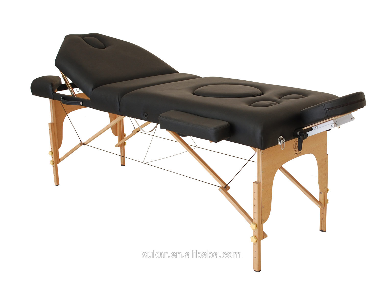 Design luxueux chiropratique portable table de massage pour femmes enceintes appareil de massage - Table de massage portable ...