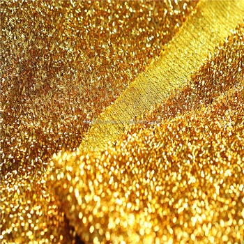 Gold Lurex Knit Fabric Buy Metallic Knitted Fabric Gold