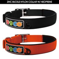High Quality Zinc Buckle elastic dog Collars with Neoprene Padding