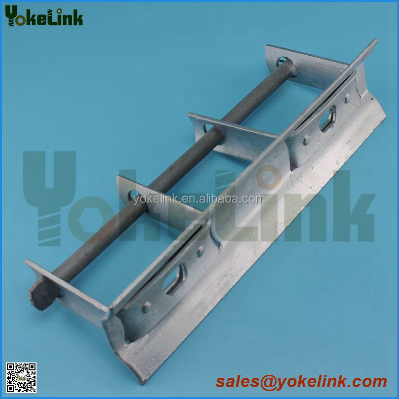 Insulator secondary rack with D Iron Bracket link insulator