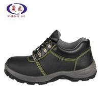 New fashionable genuine leather safety shoes with steel toe cap