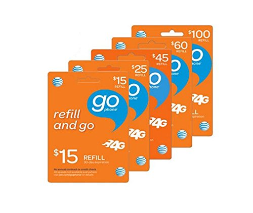 $100 AT&T Prepaid (GoPhone) Card | No Shipping | Instant Refill Sent to Your Phone | Must Send Mobile Number (See Description Below) ($100 Prepaid Minutes)