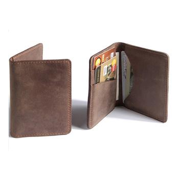 new concept f14f6 13990 Bi-fold Crazy Horse Leather Credit Card Holder Grey Card Case Credit Card  Wallet Holder - Buy Genuine Leather Credit Card Wallet Holder,Bi-fold Crazy  ...