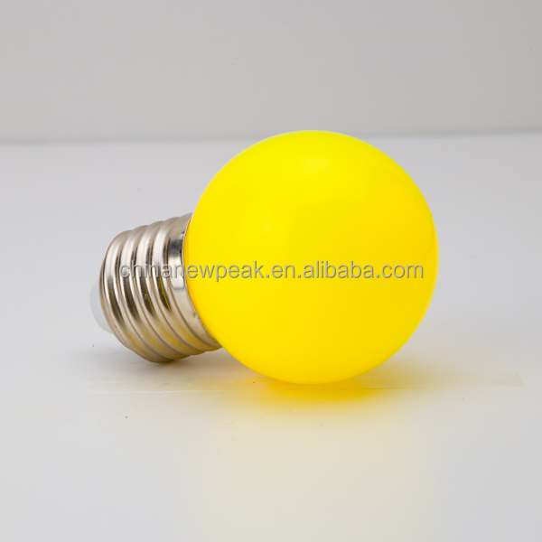 G45 Mini Yellow Waterproof LED Bulb 0.5W E27 Decorative Party Light LED String Light CE RoHs Approved