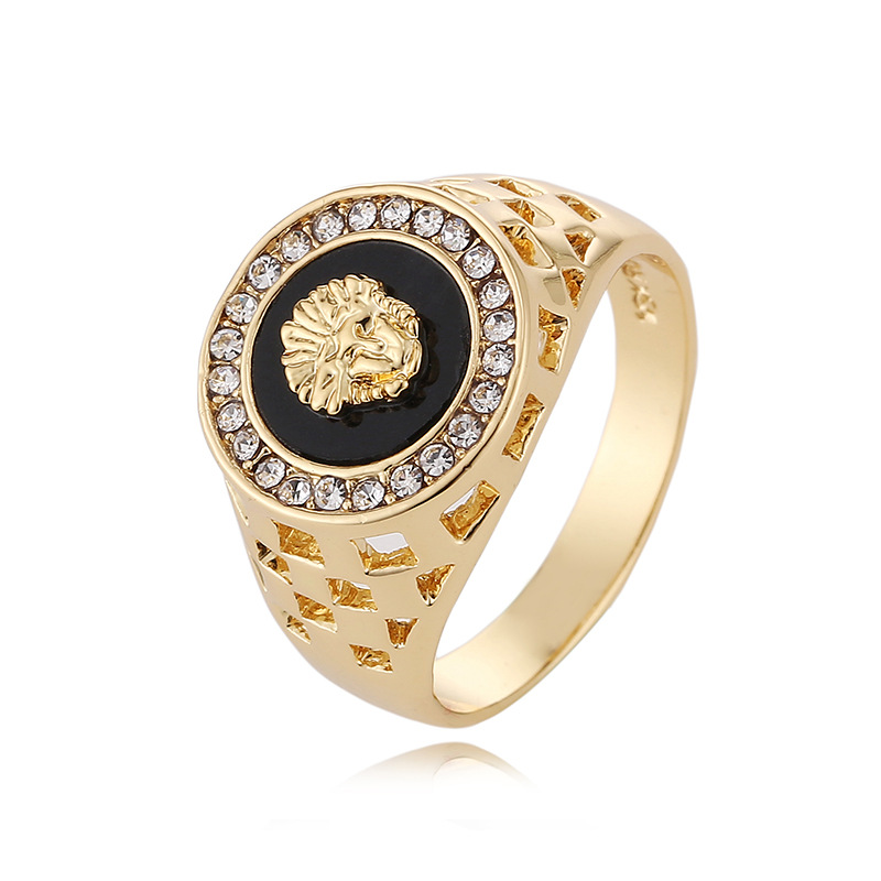 Unique Medusa Head Man Ring Party Jewelry Steam Punk Gold Ring Cz ...