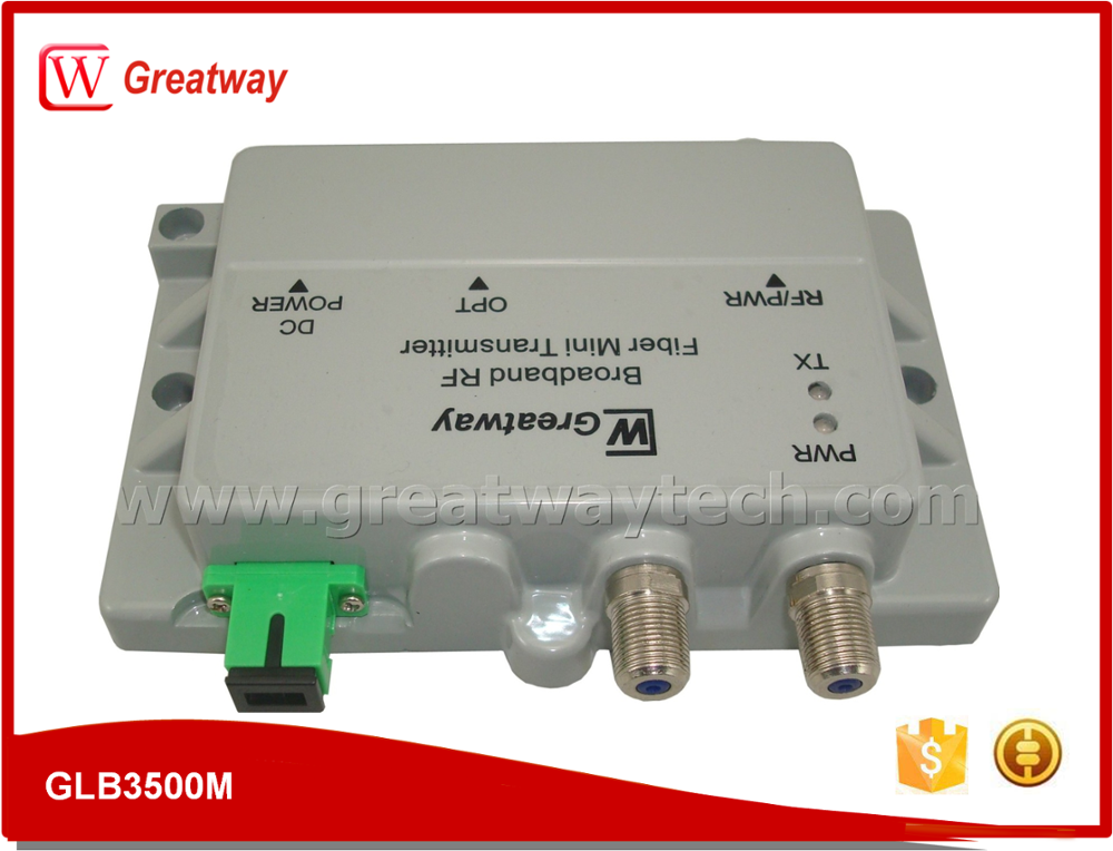Satellite DBS DTH L-Band and Terrestrial TV RF Fiber Transmitter/Receiver