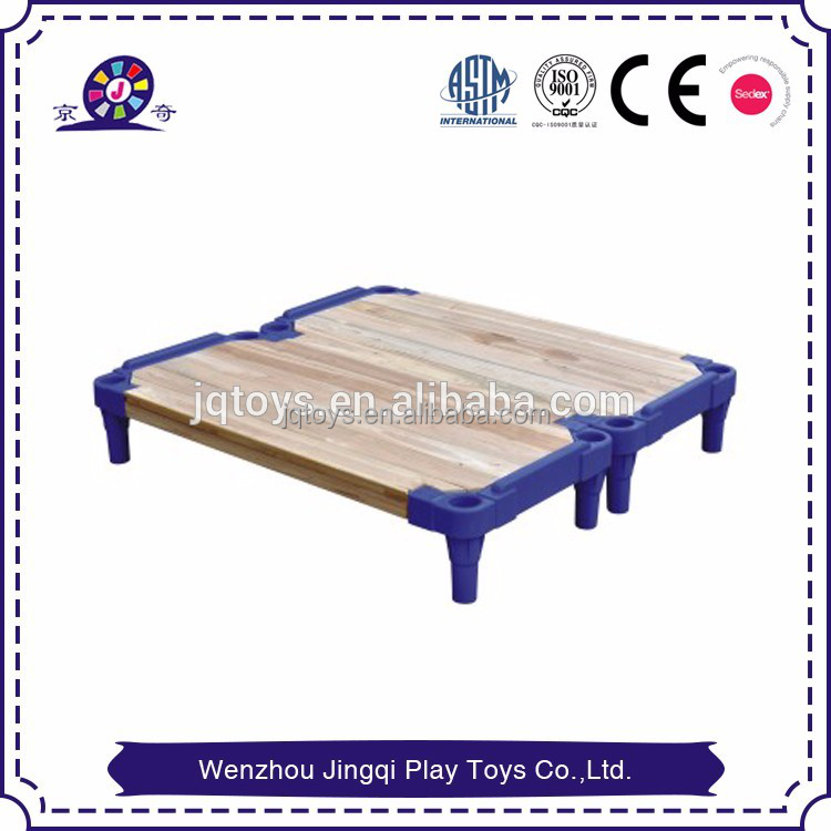 2017 Wood portable Plastic cheap single preschool kids beds for sale