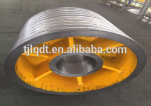 high quality of heavy rope wheel and elevator wheel of elevator parts
