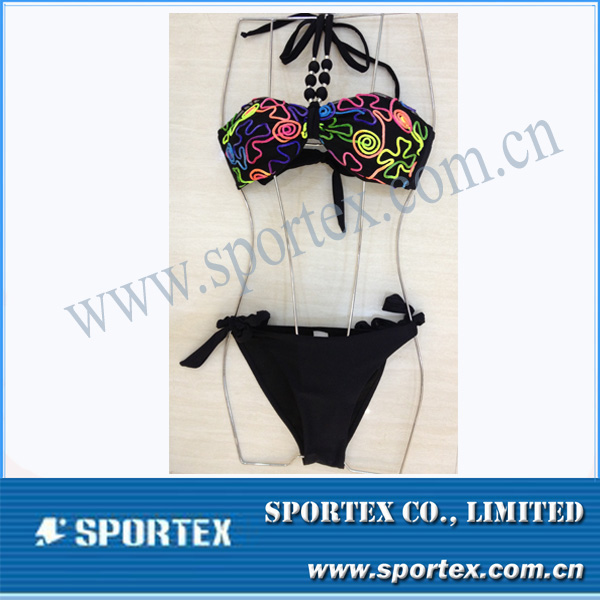 HS-14028 OEM & ODM accept ladies open swimsuit ladies swim wear ladies beach wear