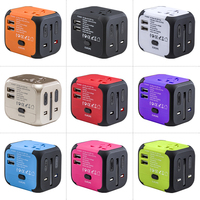 Travel gifts Micro universal multi plug travel adapter with 2 usb world universal travel adaptor plug