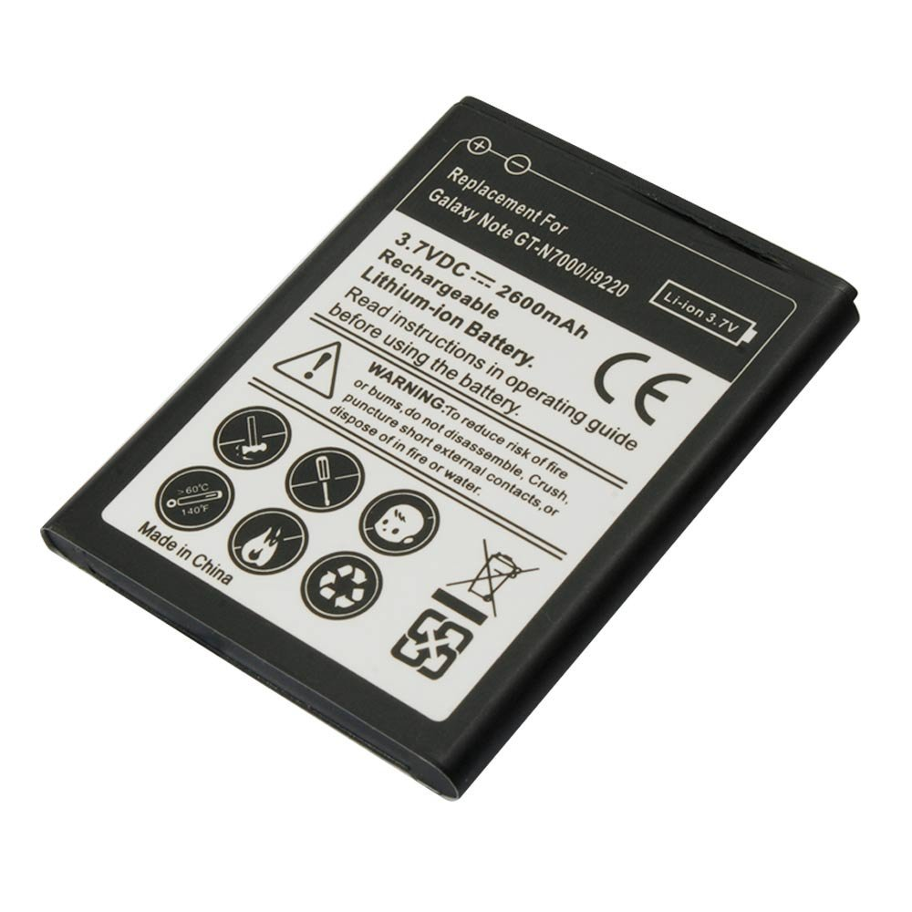 Riin 2600mah Battery for Samsung Galaxy Note, GT-I9220, GT-N7000, GT-N7000 Galaxy Note1
