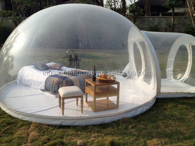 PVC Tarpaulin Or Nylon Inflatable Bubble Tent, Inflatable Crystal Bubble Tent, Cheap Inflatable Bubble Tent For Sale