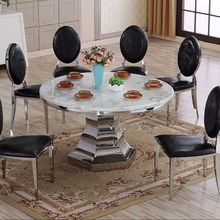 Korean style white exotic billiard single short leg stone quartz round kitchen dining table tops