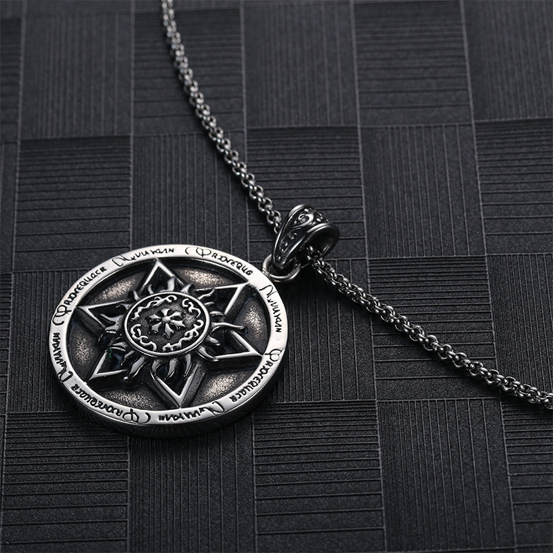 Six pointed star magic hexagram pendant symbol amulet talisman round six pointed star magic hexagram pendant symbol amulet talisman round men necklaces mens stainless steel cool heavy jewelry buy hexagram necklace aloadofball Images