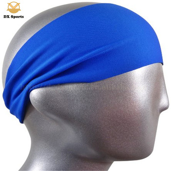 Custom printed logo solid running bandana headband unisex, custom printing black headbands bandana
