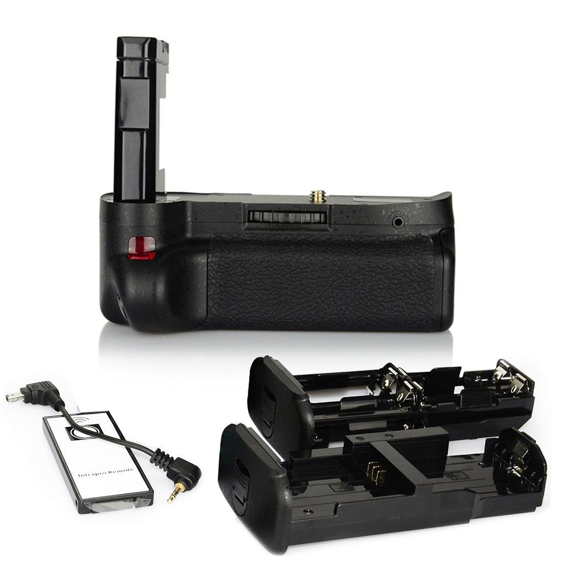DSTE Pro IR Remote MB-D51 Vertical Battery Grip for Nikon D5100 D5200 SLR Digital Camera as EN-EL14 EN-EL14A