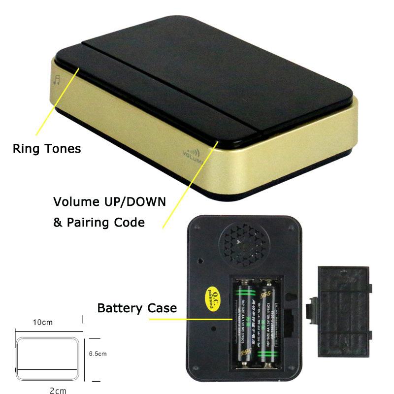 wifi doorbell wireless ip intercom interphone peephole camera night vision  smart phone video unlock alarm by