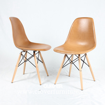 Clover Furniture Modern Dining Waxy Leather Side Chair