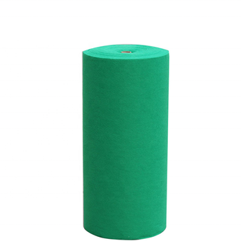1mm thick green nonwoven needle punched outdoor shaggy carpet