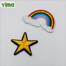 Wholesale custom embroidered star patches all kinds patches for clothing
