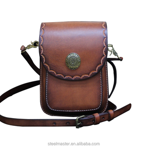 fac8b8c657c3 China manufacturer wholesale brown Leather waist leg bag for men