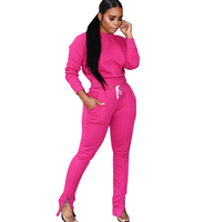 New Design Women High Quality Polyester Long Sleeve Feet zipper Casual Yoga Sets