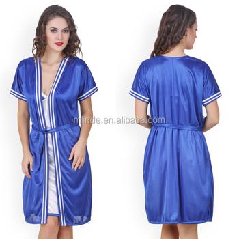 5ad828780976 Latest Design Sexy Nighty Women Lace Nightdress Pretty PJM Sexy Blue  Transparent Bathrobe For Women Honeymoon