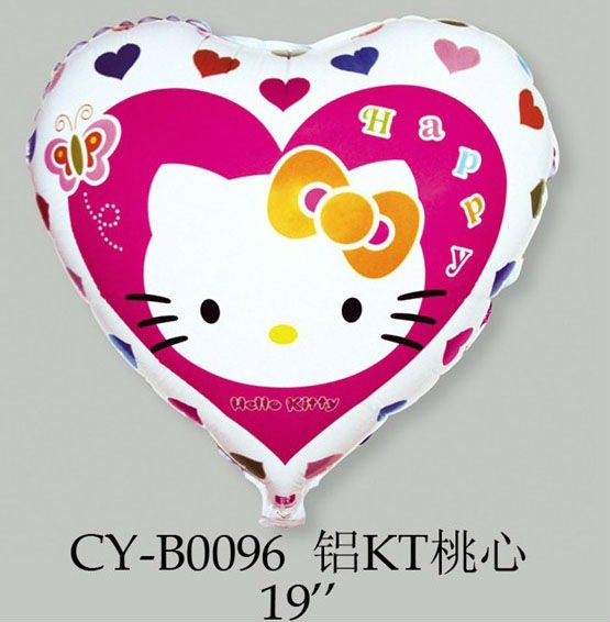 "Hello Kitty Party Balloon Mylar 18 Inch , Hello Kitty 18"" Balloon Mylar Foil Cat Polka Dot Happy Birthday Party"