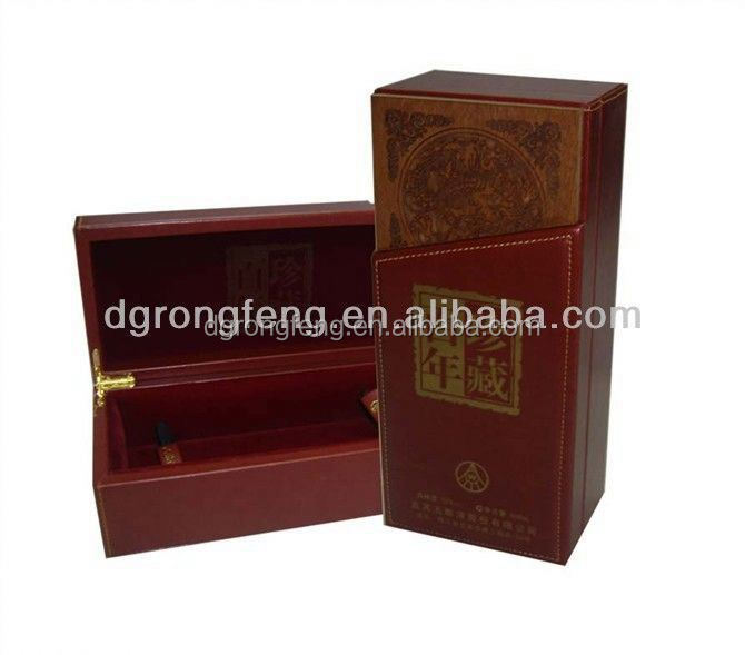 2014 flat packed paper wine box for upper market