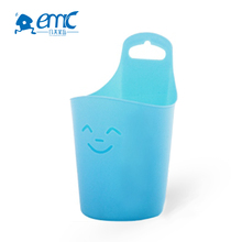 Smiling face small kitchen cabinet doors hanging plastic storage box