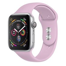 Силиконовый ремешок для Apple Watch, ремешок для часов 42 мм 5 4 3 iwatch 38 мм 44 мм 40 мм pulseira correa, браслет, Аксессуары для смарт-часов(Китай)