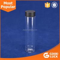 Wholesale 500ml/16oz Voss Style Water Bottle Juice Beverage Bottle With Plastic Lid