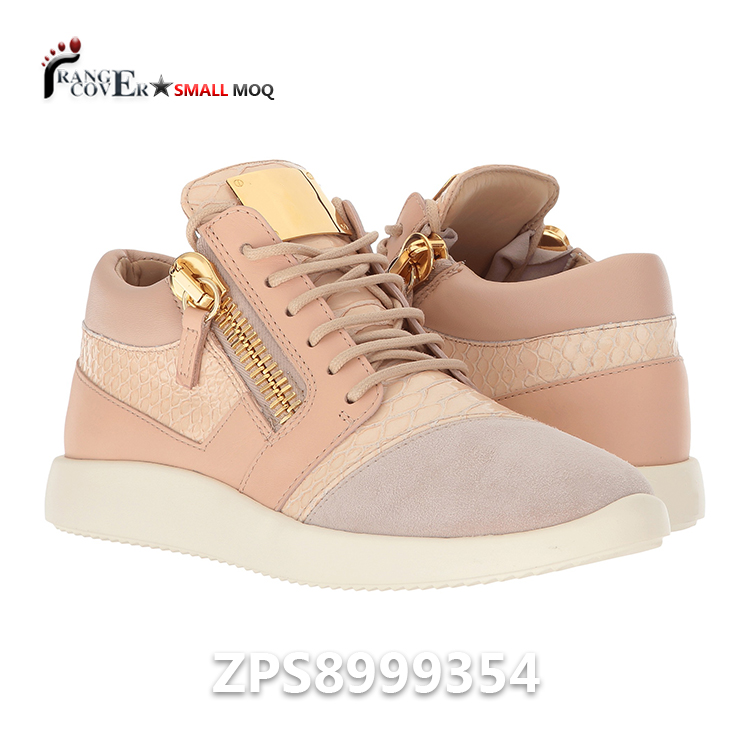 Pink Leather Fashion Shoes Shoes Womens Sneaker Zipper Gold Casual ZqOOpd