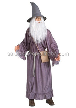 Gandalf Costume Adult Lord of The Rings Fancy Dress Halloween Costume QAMC-2398