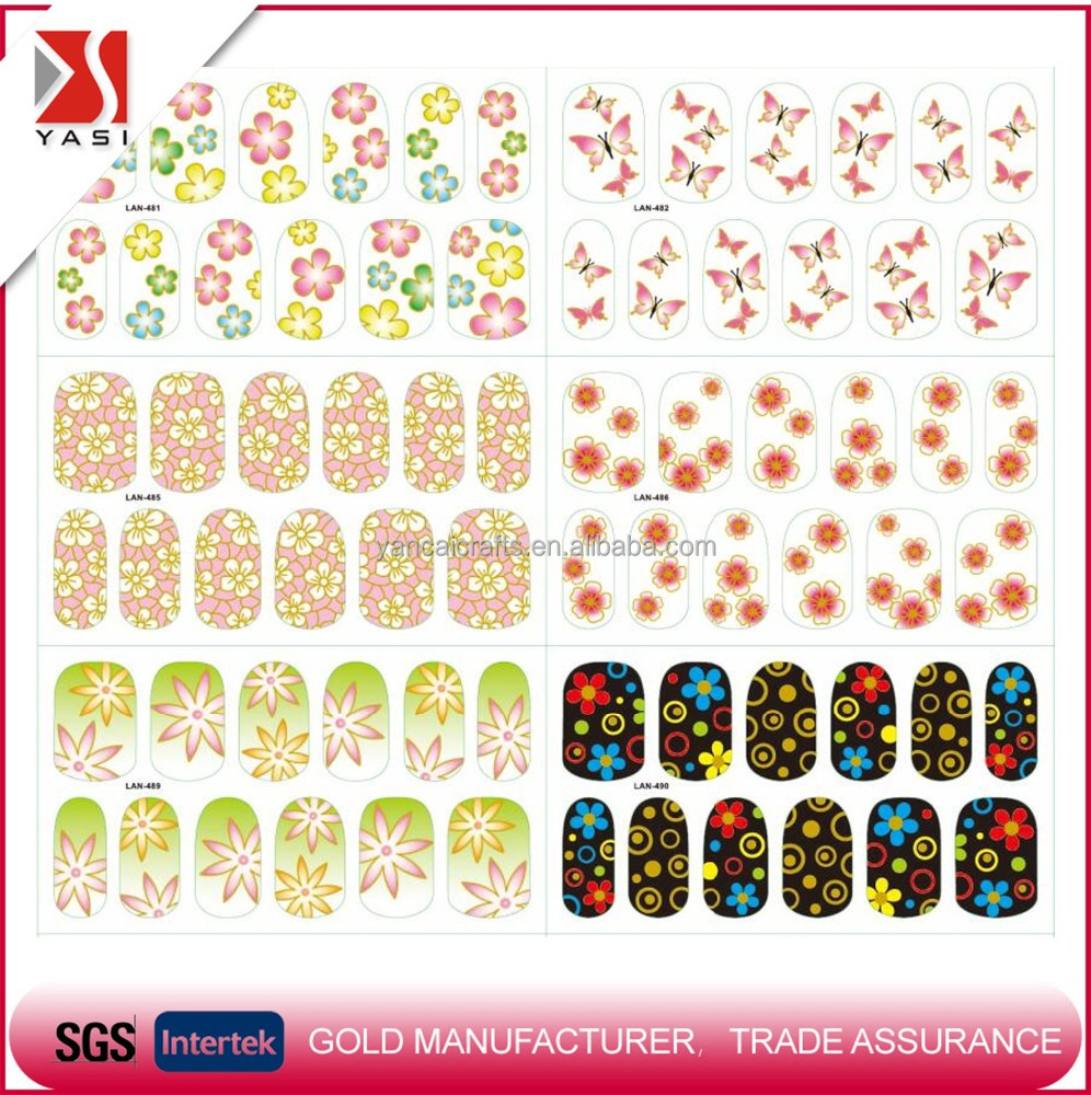 New style custom gold/metal sexy blossom rose flower hollow lace nail art wraps 3D colorful waterproof temporary glitter wraps