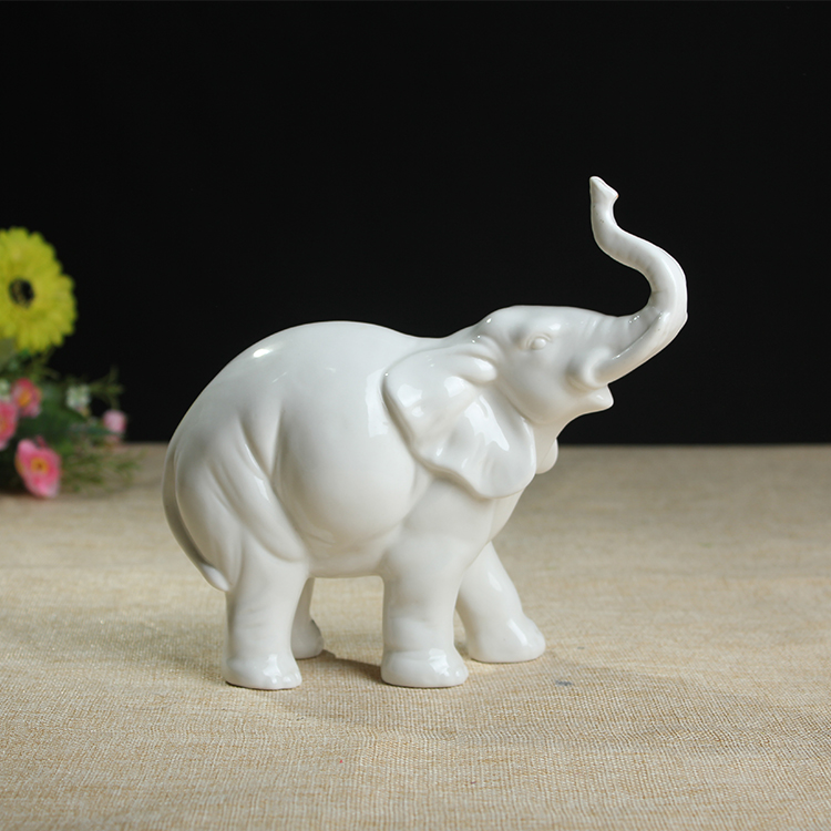 unpainted ceramic bisque elephant statues and figurines