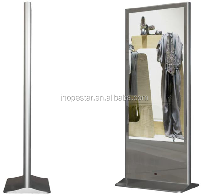 Magic Mirror Widescreen 65 Inch Floor Standing LCD LED Advertising Player