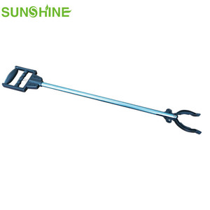 2018 new design Aluminum trash picker,reaching tool,pick up tool with Plastic handle DL129