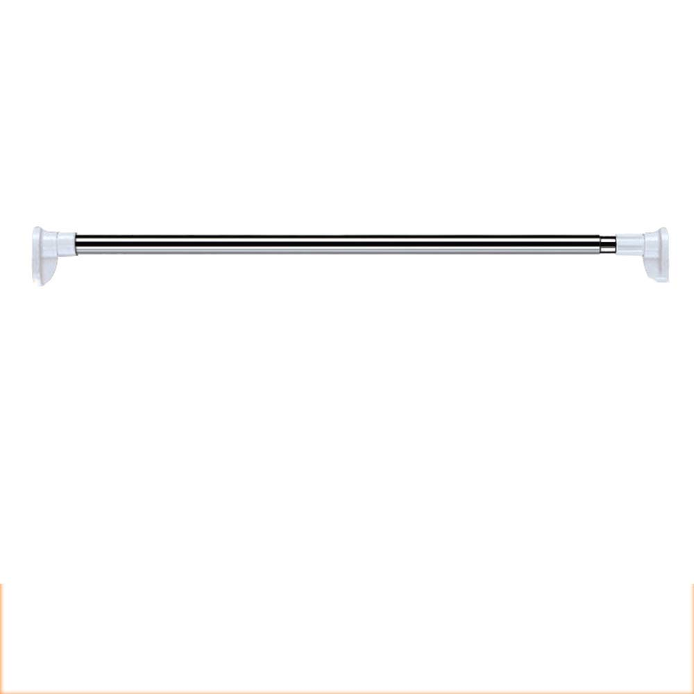 DCAH Shower Curtain Rod, Free Punching Telescopic Rod Balcony Clothes Pole Free Shower Curtain Set Straight Rod Type Bathroom Rod Bedroom Curtain Rod Curtain Rod (Size : 50-80cm)