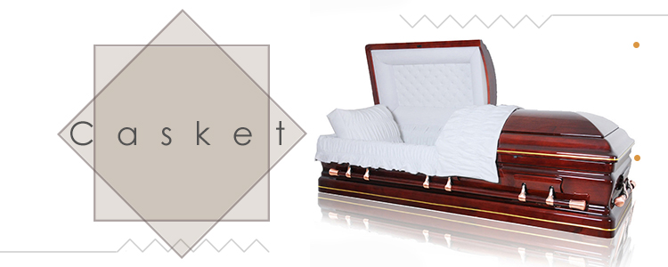 JS-A151 adult funeral wooden casket from china casket manufacturers