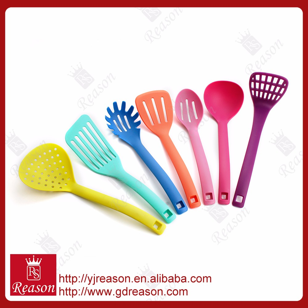 7 Pieces cooking Utensil Colorful Nylon Kitchenware Set