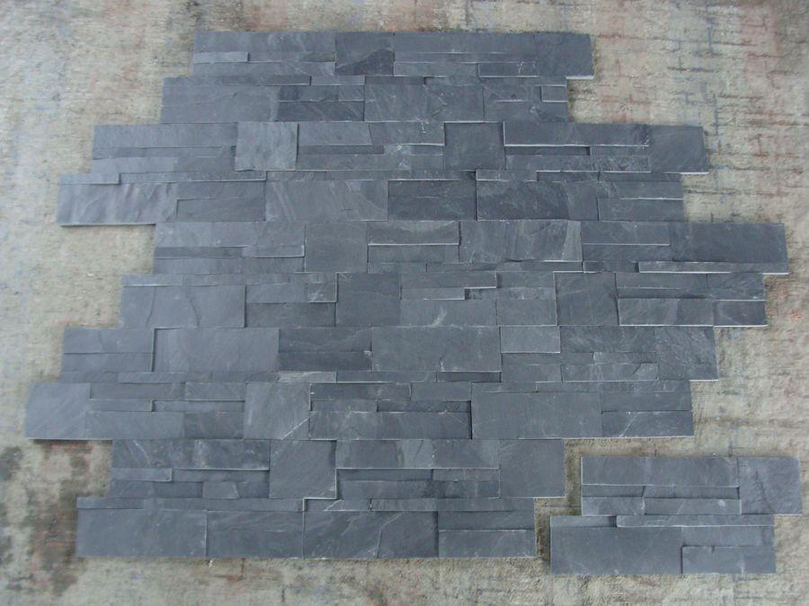 Paneles decorativos de pared de piedra de pizarra oxidada - Panel piedra precios ...