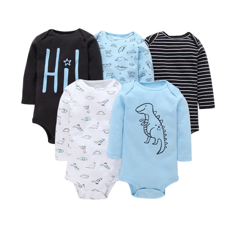 Long Sleeve Baby Rompers One-piece Baby Outfits Clothes фото