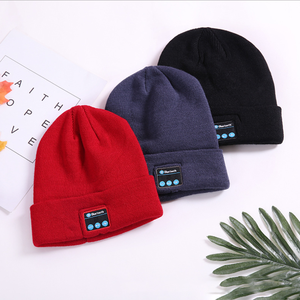 Factory direct unisex bluetooth hard hat speakers warm soft bluetooth beanie hat man and woman