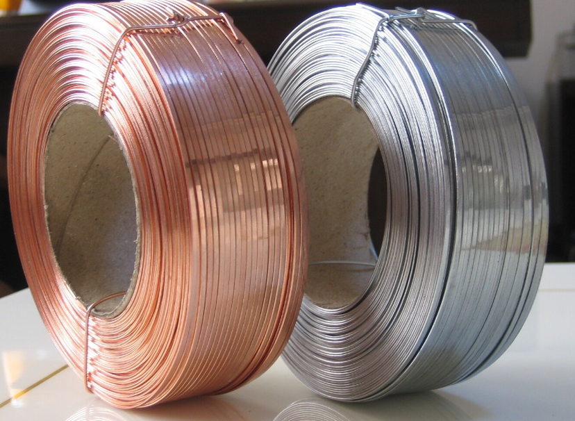 Copper coated carton flat wire 18# Copper Coated Stitching flat wire 18# 18# 20#