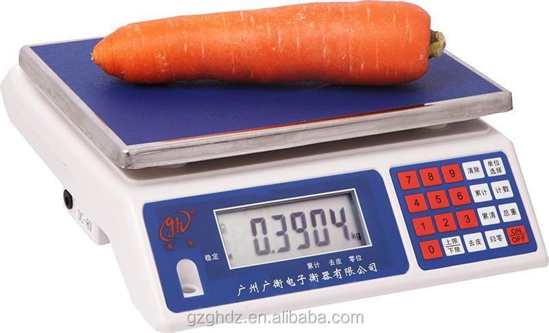 China 30kg 1g Weighing Balance / Green Lght Biger Led Display ...