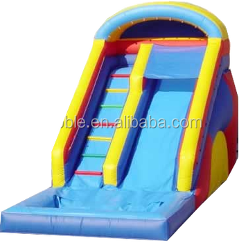 Commercial High Quality Rental Inflatables Big Water Slide with Pool