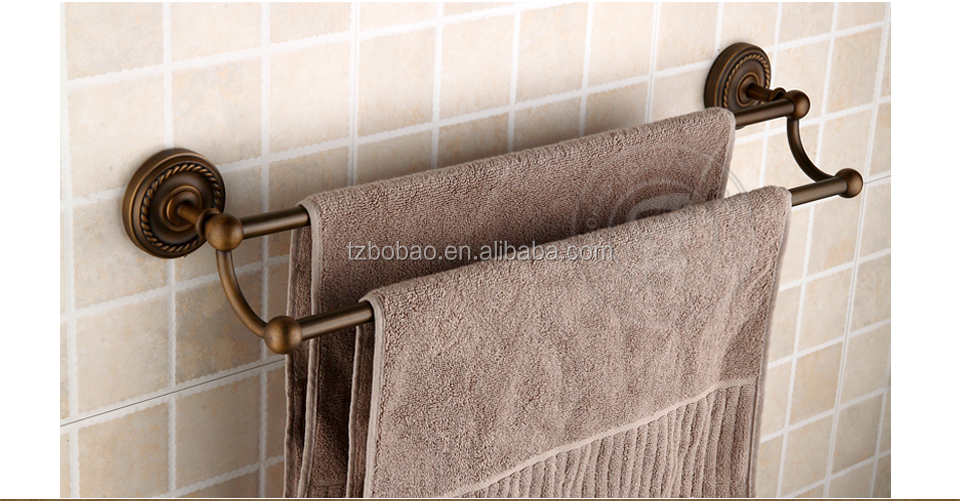 Whole Bathroom Bronze Suction Towel Bar Double Magnetic Removable