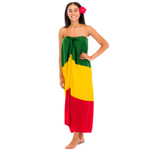 New Design Beach Wear Sarong Dress Rasta Long Dress Cover up from Indonesia
