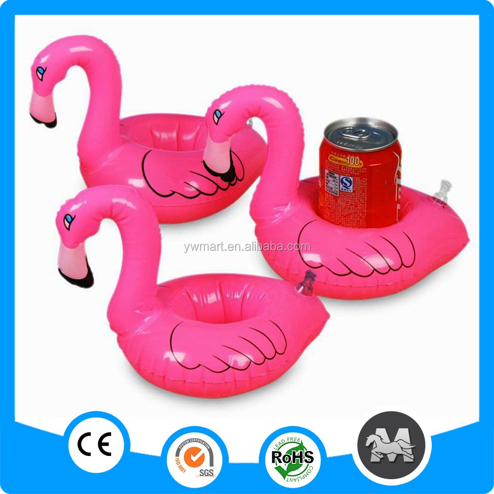 Hot sale delivery inflatable flamingo cup holder